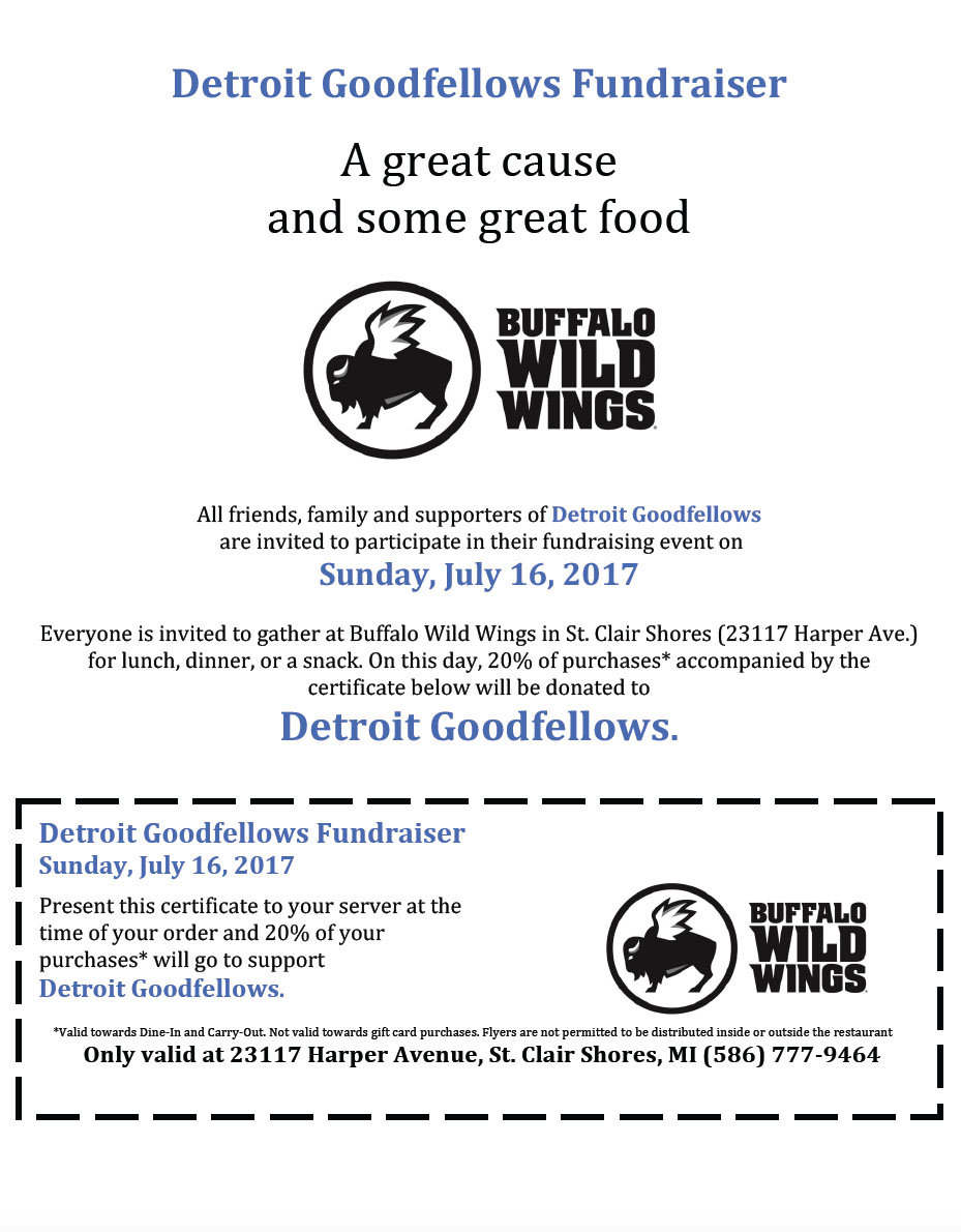 Giving in July - Detroit GoodFellows